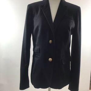 J Crew Black Wool School Boy Blazer Sz 4 NWOT